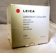 Empty Box for Leica  11 879 LENS Summicron-M 35mm f2  With Sponge Foam insert