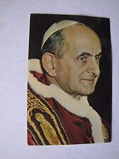 1964-65 New York World's Fair Pope Paul VI Postcard Mailed From Vatican City
