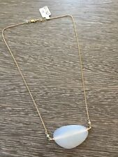 Dana Kellin gold chain moonstone nugget necklace cloudy clear stones
