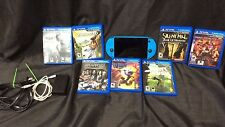 Sony Ps-Vita Slim Blue PCH2001 8GB  With 7 Games! Sly Cooper Injustice Batman!
