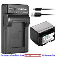 Kastar Battery Slim Charger for Canon BP-727 CG-700 Canon VIXIA HF R800 Camera