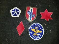 Collectors Lot of 5 military patches