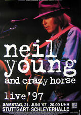 Original Konzertplakat  Neil Young  21.6.1997   Stuttgart Schleyerhalle