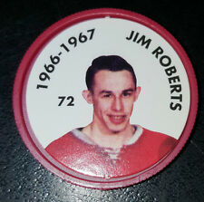 JIM ROBERTS NO. 72 1966-67 MONTREAL CANADIENS 1995-96 PARKHURST HOCKEY COIN