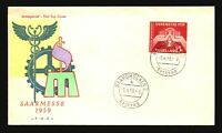 SAAR 1959 SARRMESSE FDC / Hand Colored / UA - L3262