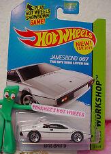 A/B 2015 Hot Wheels James Bond 007 ✰ LOTUS ESPRIT S1 #219☆White☆Spy Who Loved Me