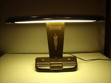 Vintage Art Deco Desk Lamp Moe Brothers A-125 Works Metal Aviator Airplane Style