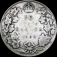 1906 Canada 50 Cents (Silver) - Toned / SCARCE