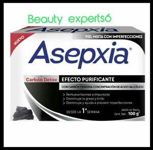 ASEPXIA CARBON DETOX 100g  acne fighting soap NEW FORMULA! Para combatir el acné