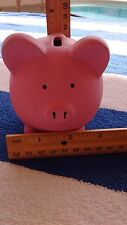 New listing Bright pink piggy coin bank