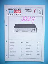 Service Manual-Anleitung für ITT/Graetz HiFi 8061 ,ORIGINAL