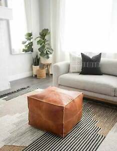 50% OFF ,Moroccan pouf, ottoman pouf, Moroccan leather, leather pouf, Living roo