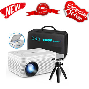 Full HD Bluetooth Projector with Built-in DVD Player Portable Mini Projector