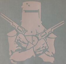 Ned Kelly Decal Outlaw Sticker 400mm New Any Colour Crossed Guns Outdoor Vinyl