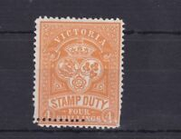 V60) Victoria 1884 – 96 4/- Orange Stamp Duty perf. 12, SG 238a
