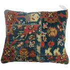 Pillow made from a 20th century Persian Mahal rug.