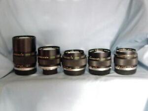 OLYMPUS OM ZUIKO 28mm 35mm F2 50mm F1.2 135mm F2.8 135mm F4.5 LENS SET of 5 ASIS