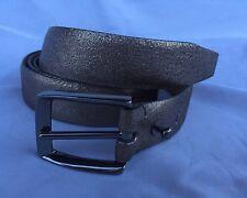 New Brunello Cucinelli Silver Metallic Glitter Effect Belt Size M $495.00