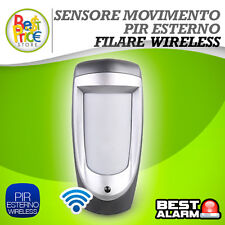 PIR WIRELESS 433Mhz SENSORE DI MOVIMENTO WIRELESS TRIPLA TECNOLOGIA DA ESTERNO