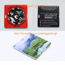 50 Personalised Printed square card 4GB USB flash drives memory sticks pen drive