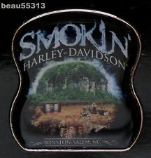 SMOKIN WINSTON-SALEM NORTH CAROLINA HARLEY DAVIDSON DEALER DEALERSHIP PIN