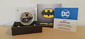 2 Dollar Niue 1 Once Argent Silver BE Proof 1989 Batmobile Batman 2021