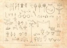 """ANCIENT GREECE. Jewellery & utensils. """"Bijoux et ustensiles des Grecs"""" 1832"""