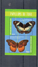 Togo 2014 MNH Butterflies 2v S/S Insects Blue Diadem Common Commander Papillons