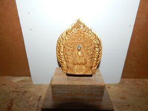 Antique 19th C Tibetan Gilt Bronze Finial