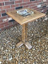 A Brandt Ranch Oak Pedestal Ashtray / Side Table / Drink Stand