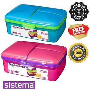 Kids Lunch Box With Compartments Plastic Food Snack Picnic Container Storage