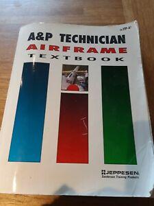 A&P Technician Airframe Textbook Softback 1992 Jeppesen Sanderson