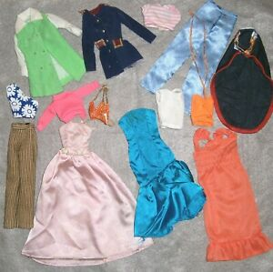 VINTAGE BARBIE / CLONE DOLLS & OTHER DOLLS ~ CLOTHING LOT of 14 ITEMS ~ As Is!