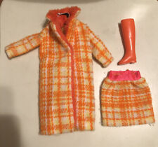 Vintage Mattel Barbie #1881 Made For Each other Coat Skirt Boot 1969 Clothes