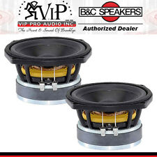 "B&C 5Fg44 5"" Low Frequency 200W MidRange 8-ohms Speaker Frequency 63-6000Hz Pair"