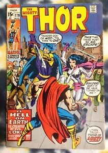 THE MIGHTY THOR #179 (1970) fine - Lady Sif & Balder - Marvel Comics