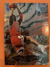 "(Michael Jordan) 1996-97 FLEER METAL ""Metal Shredders"" #241 sharp corners"