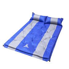 Self Inflating Sleeping Mattress Camping Hiking Air Bed Mats Joinable Pad Pillow