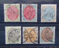 Danish West Indies 1873 values to 10c Fine Used