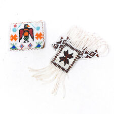 """Vintage Beaded Native American Eagle Coin Purse & Necklace 17.10"""""""
