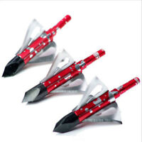 12Pk Ramcat Broadhead 100grain 3-blade Archery Hunting for Compound Bow Crossbow