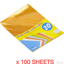 100 SHEETS A4 ALUMINIUM PAPER CRAFT GIFT WRAPPING COLLAGE SHINY METALLIC FOIL