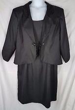 Landa black Dress Jacket set sleeveless formal womens size 20