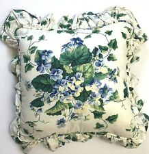 Waverly Home Decorative Pillow Sweet Violet Blue Yellow Square 16x16 Floral