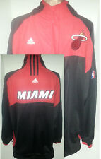 Miami Heat NBA Adidas Basketball Warm-Up Jersey Jacket Zip/Snap Buttons Large/XL