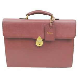 Burberrys Business Bag  Bordeaux Leather 1713860