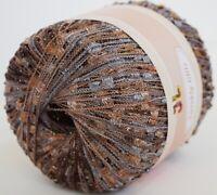 Clearance! TWINKLY TRAIL GLITZ ladder trellis yarn brown multi 909