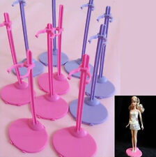 Plastic Pink Hangers Stand for Barbie Doll Dress Clothes Accessories MGCA