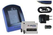2x Baterìas + USB Cargador para GoPro ABPAK-001, ABPAK-0014, AHDBT-001, -002