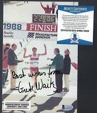 """Grete Waitz signed 5""""x8"""" picture BAS Authenticated Marathon Legend"""